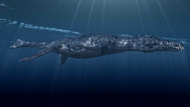 Illustration eines Pliosauriers