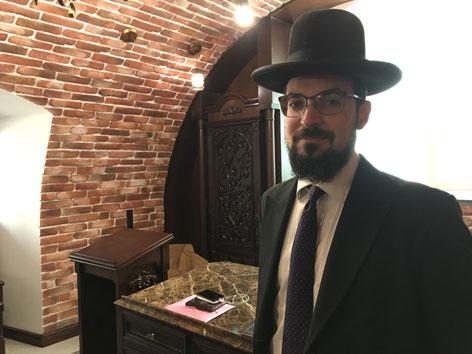 Rabbiner der jüdischen Gemeinde in Chisinau, Shimshon Deneel Isaakson