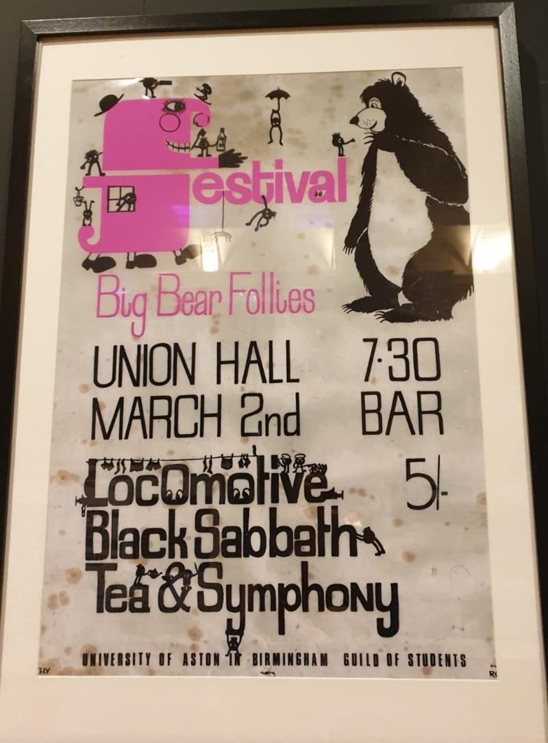 Bilder aus der Black Sabbath Ausstellung