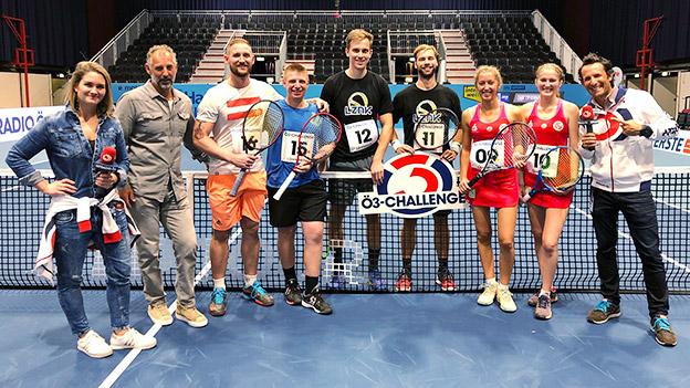 Die Teilnehmer der Tennis-Challenge