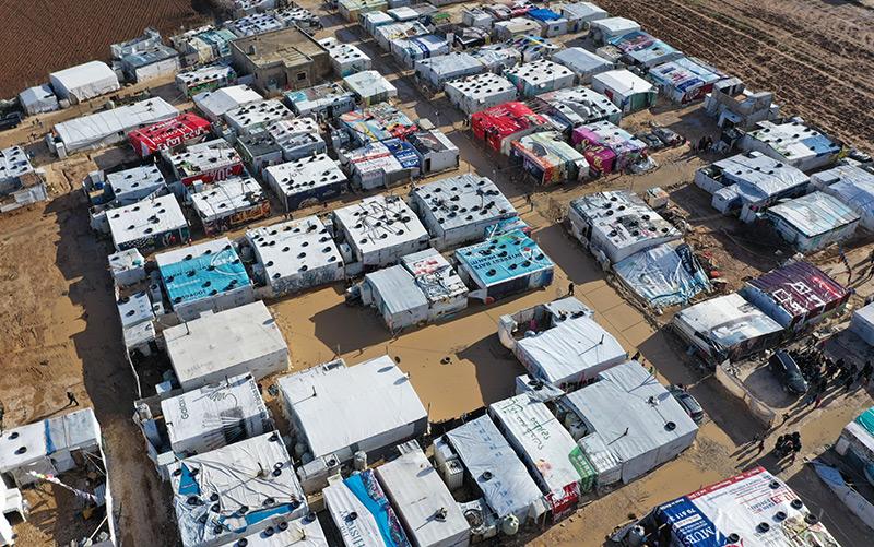 Flüchtlingslager im Libanon mit syrischen Refugees