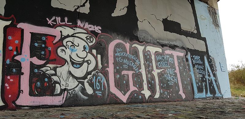 Übermaltes Graffitti