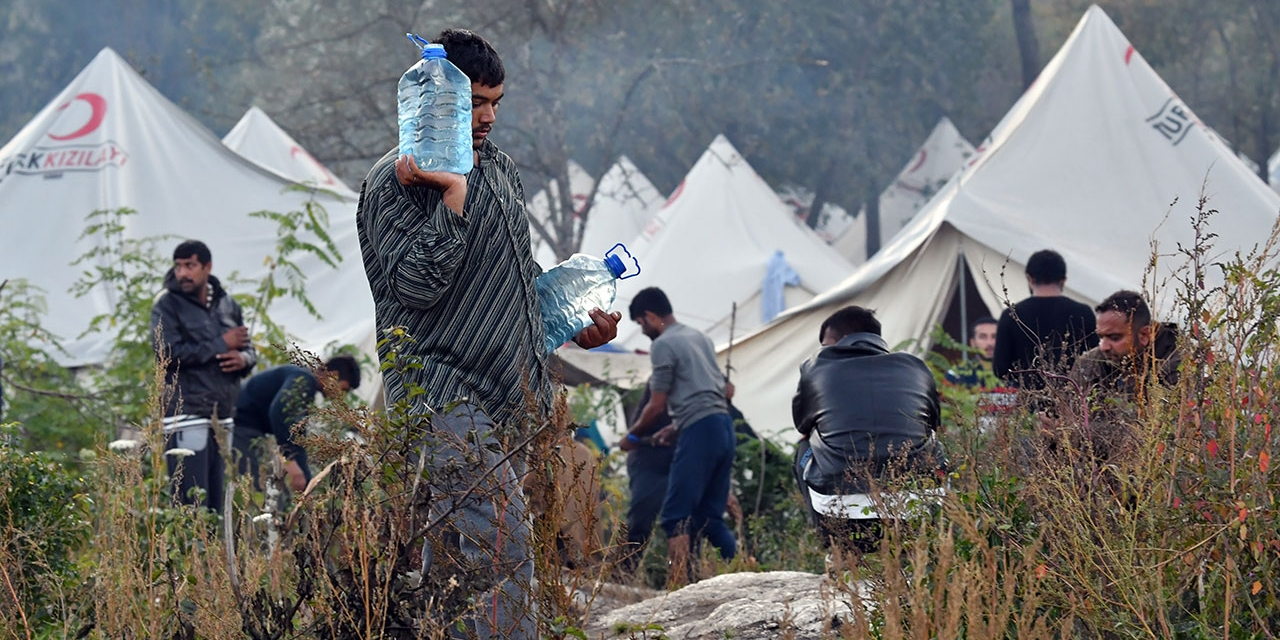 Flüchtlingscamp Vučjak in Norden Bosnien und Herzegowinas