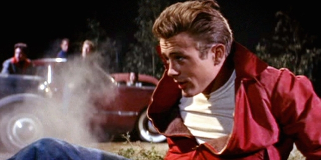 "James Dean in ""Rebel without a cause"""