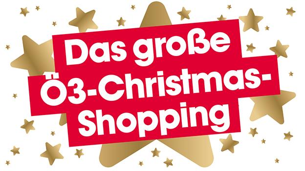 Das große Ö3-Christmas-Shopping - Aktionssujet - goldener Stern mit Schrift