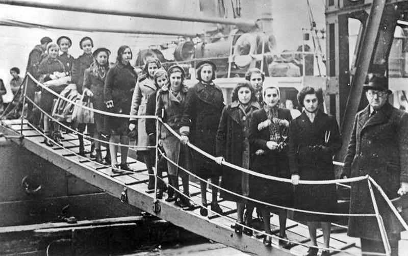 Kinder bei den sogenannten Kindertransporten 1938/39