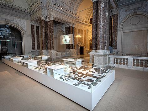 """Ausstellung """"Nicht mehr verschüttet. Jüdisch-österreichische Geschichte in der Wiener Malzgasse"""" im Haus der Geschichte Österreich (hdgö)"""