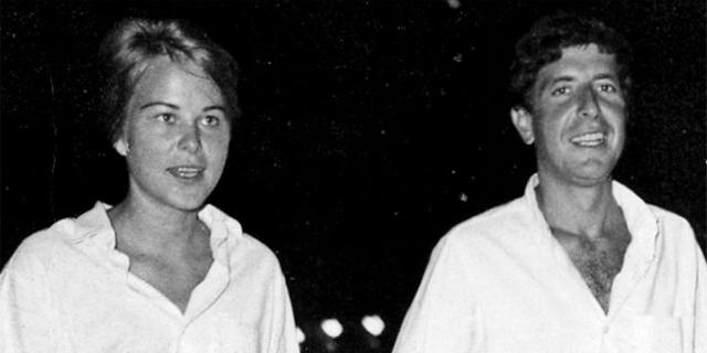 Leonard Cohen und Marianne Ihlen in Weiß