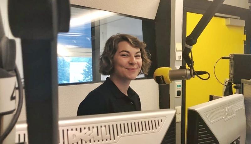 Die stellvertretende ÖH-Vorsitzende Dora Jandl (VSStÖ)