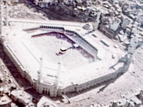 Fernseh-Luftaufnahmen der Großen Moschee von Mekka, 1979