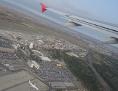 Austrian Flugzeug nach dem Start in Wien