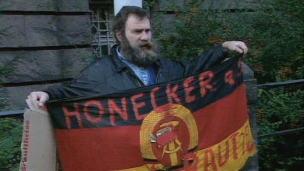 Demonstrant Honecker Prozess