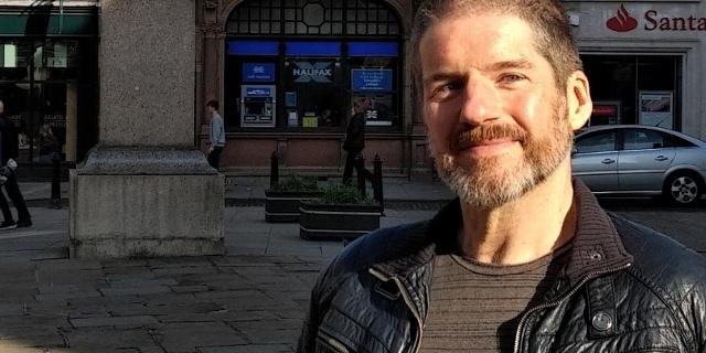Comiczeichner Charlie Adlard in seiner Heimatstadt Shrewsbury