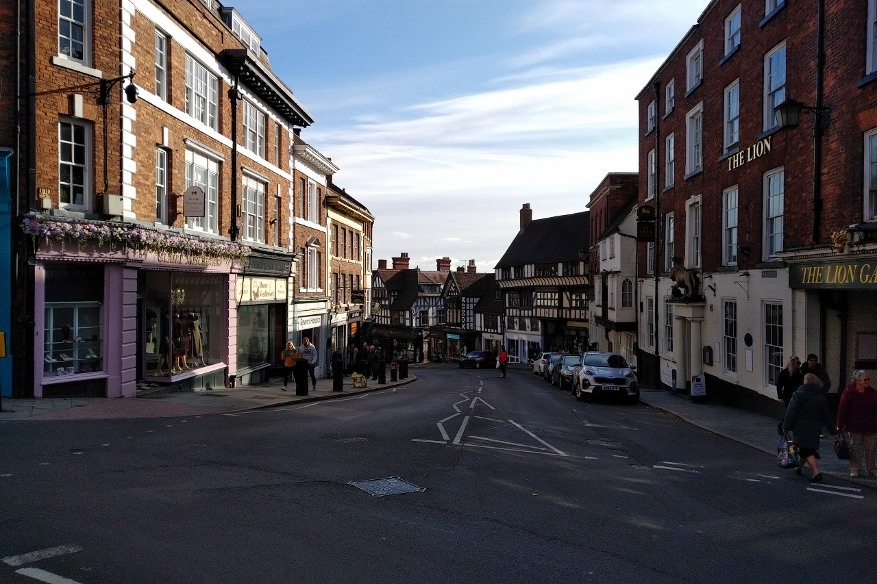 Wyle Cop Straße in Shrewsbury
