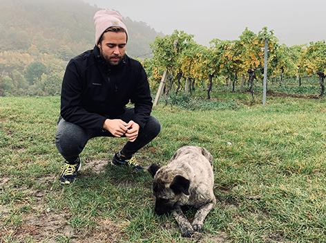 Martin Krachler mit Hund