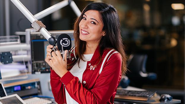 Sheyda Kharrazi im Ö3-Studio