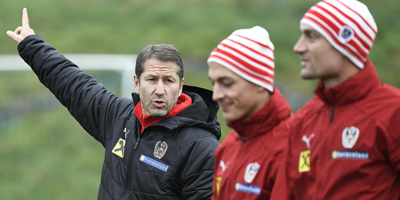 Franco Foda beim Training mit dem ÖFB-Team