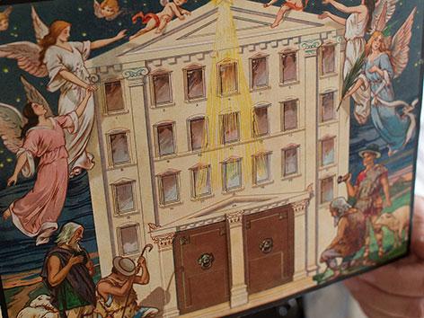 Einer der ersten Adventkalender mit Türchen
