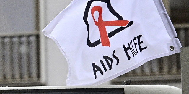 Aids Hilfe Flagge