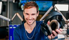 Benny Hörtnagl im Ö3-Studio