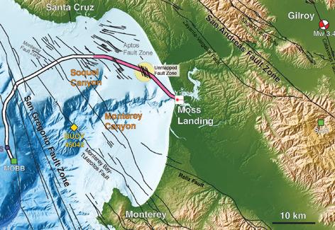 Grafik zum Glasfaserkabel in der Monterey-Bay