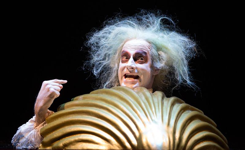 """Joachim Meyerhoff als """"Argan"""" im Molière-Stück """"Der eingebildet Kranke"""" (Burgtheater 2015)"""