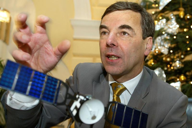 """Rudolf Schmidt im Dezember 2003. Damals war er Leiter der Mission """" Mars Express"""""""