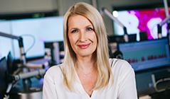 Claudia Stöckl im Ö3-Studio
