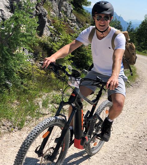 Raphael Trkmic beim Moutainbiken