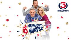 Andi Knoll, Robert Kratky und Gabi Hiller freuen sich auf das Ö3-Weihnachtswunder