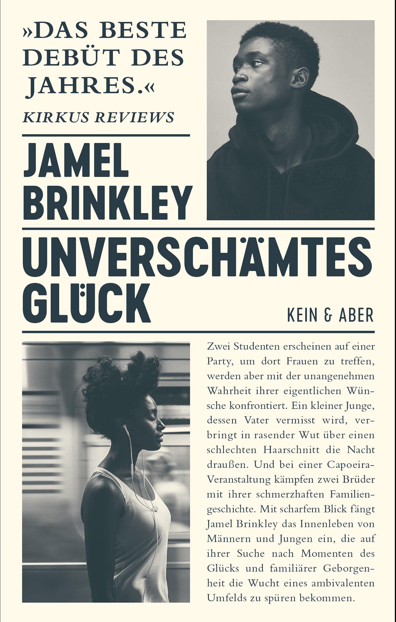 """Buch Cover """"Unverschämtes Glück"""" von Jamel Brinkley"""