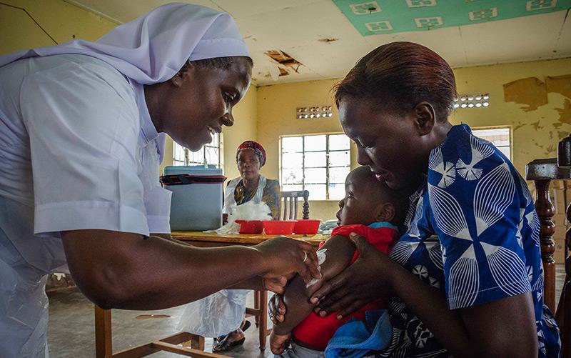Masernimpfung in Uganda