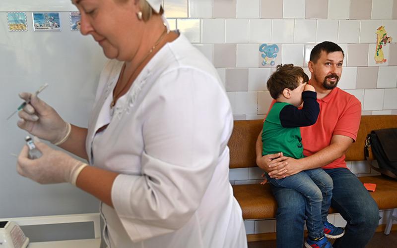 Masernimpfung in der Ukraine