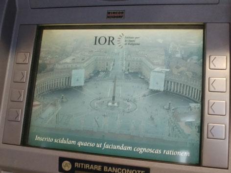 Vatikan Bankomat latein