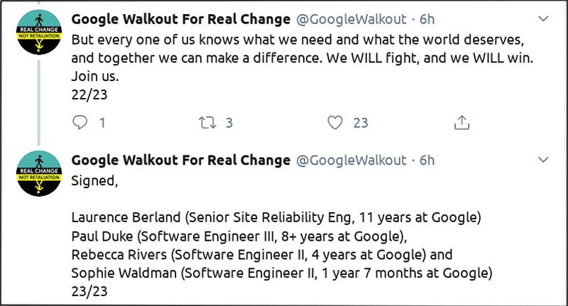 Screenshot Google Walkout