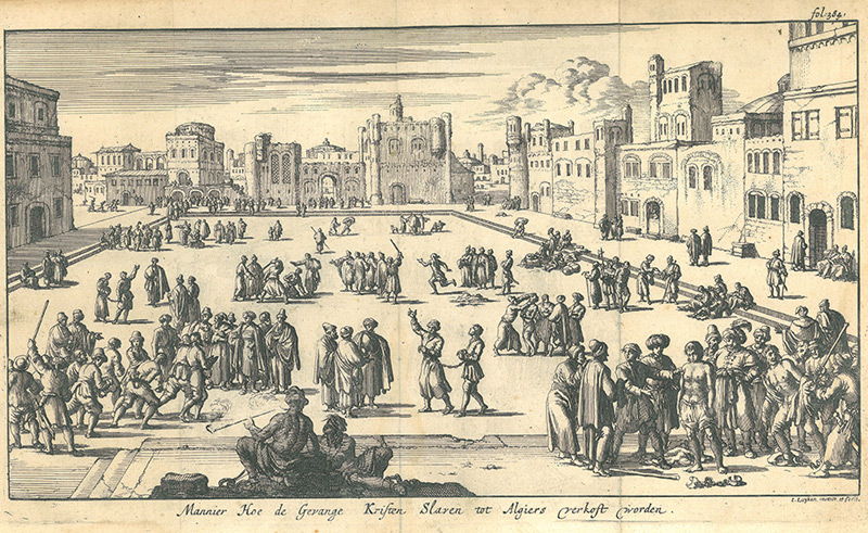 Illustration des Sklavenmarktes in Algier, Algerien, 17. Jahrhundert