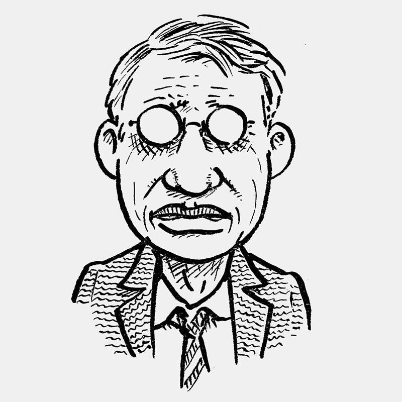 Joe Sacco gezeichnetes Selbstporträt