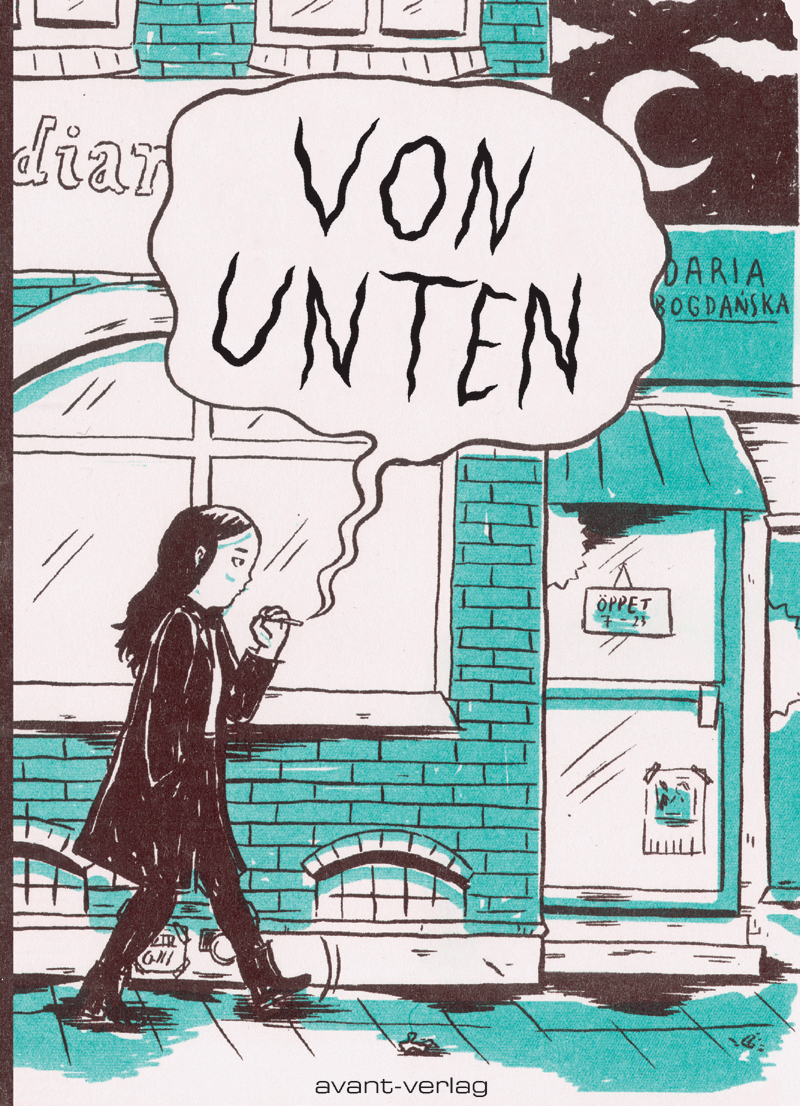 Comic-Cover: Frau geht an einem Restaurant vorbei