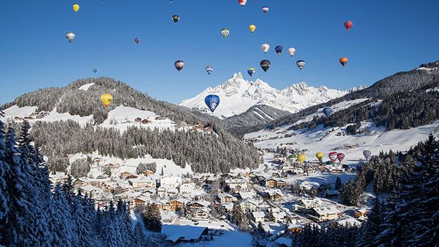 Ballons über Filzmoos