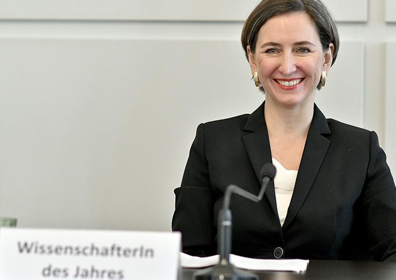 Stelzl-Marx bei der Preisverleihung in Wien