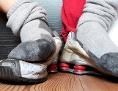 Füße in Sportsocken