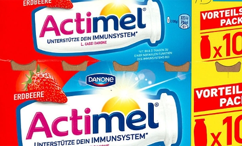 """Screenshot Danone """"Actimel"""""""