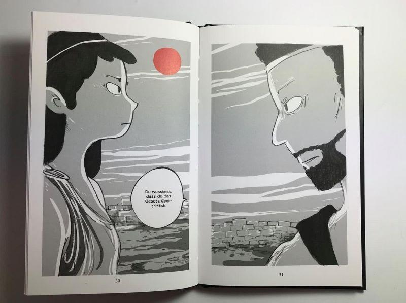 Seiten aus dem Comic Antigone