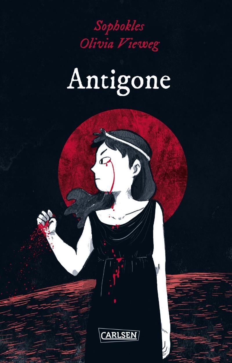 Cover der Grapic Novel Antigone. Erschienen in der Serie Die Unheimlichen.
