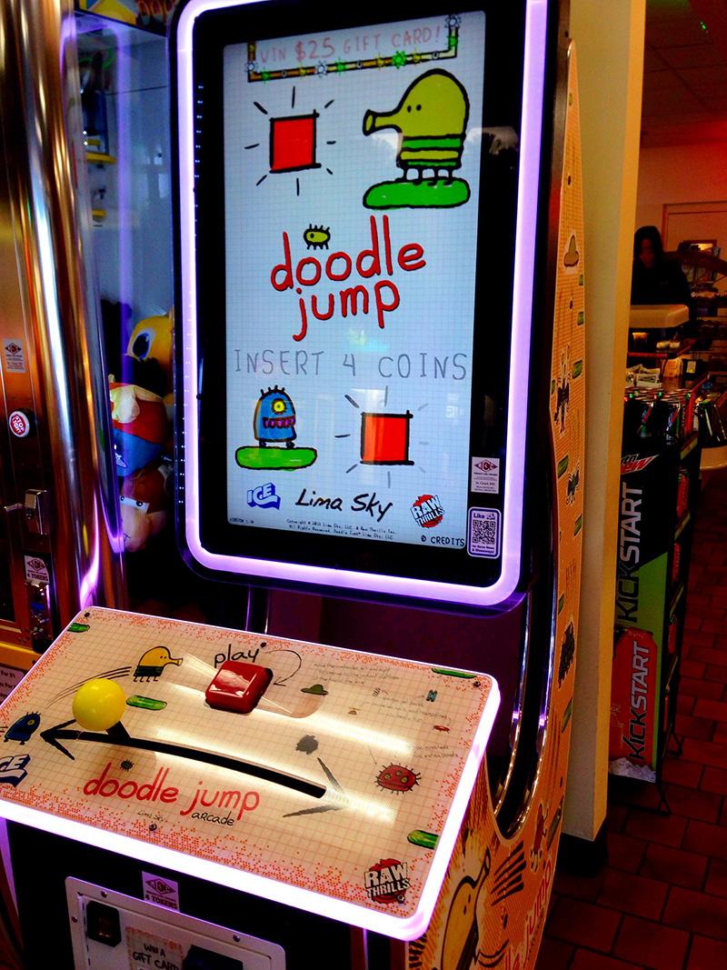 """Doodle Jump"" Arcade-Maschine"