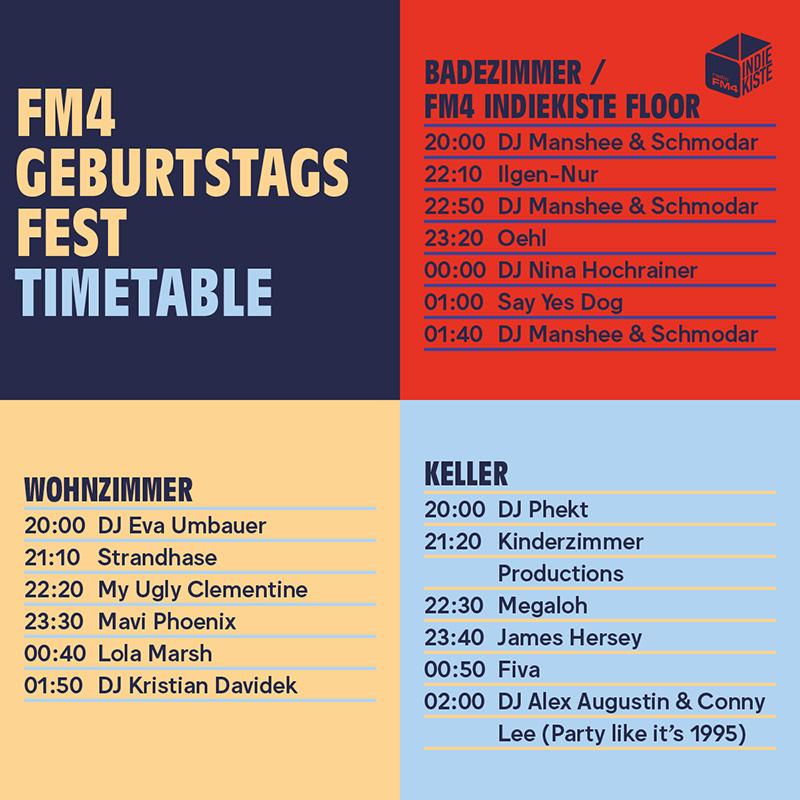 FM4 Geburtstagsfest Lineup