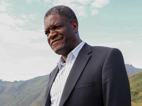 Friedensnobelpreisträger Denis Mukwege, Gynäkologe, Menschenrechtsaktivist, Gründer und leitender Chirurg des Panzi-Hospitals in Bukavu (Kongo)
