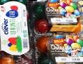 Gefärbte Ostereier im Kühlregal einer Wiener Billa-Filiale Anfang Jänner 2020