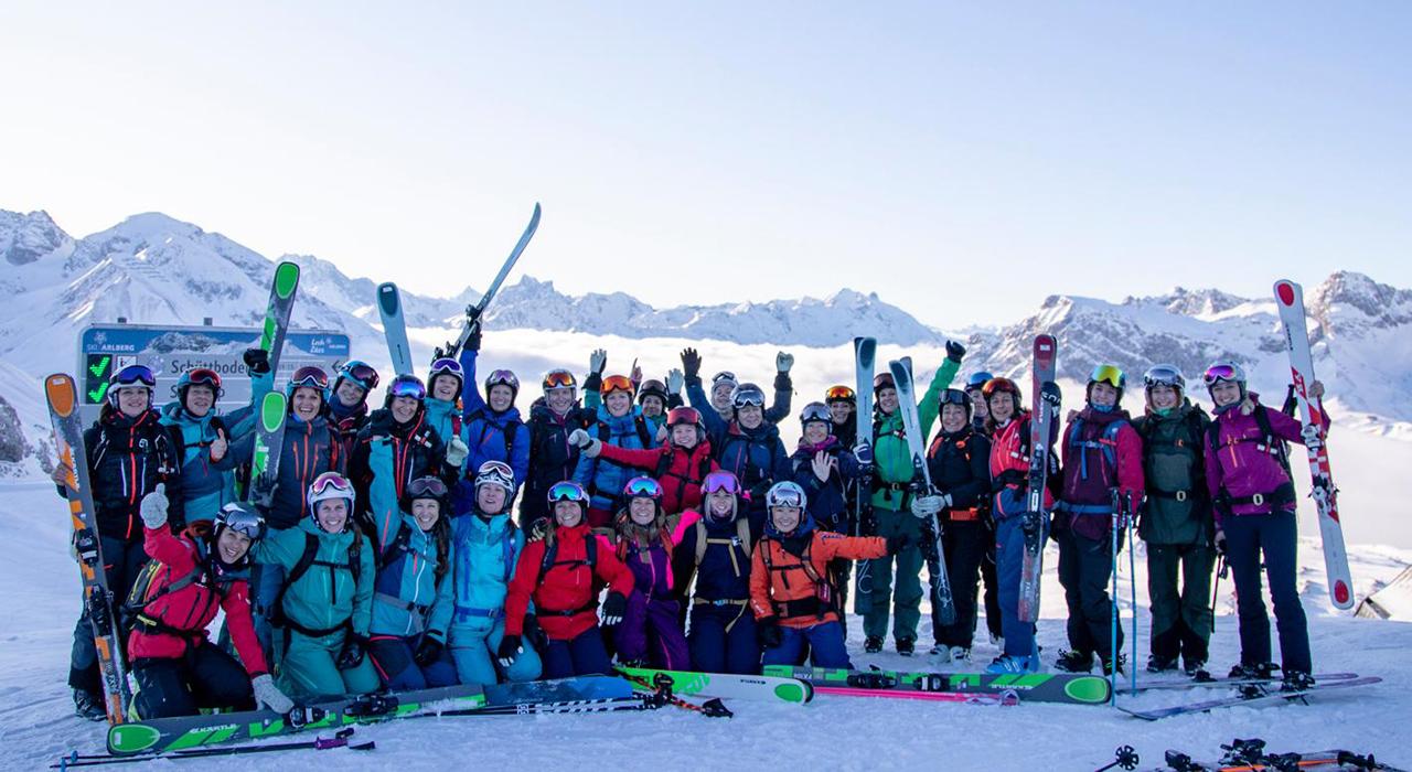 Alle Skifahrerinnen der Women's Progression Days