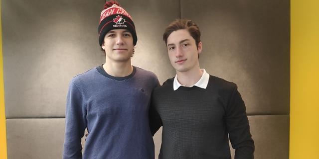 Nachwuchs Eishockeyspieler Patrick und Timo
